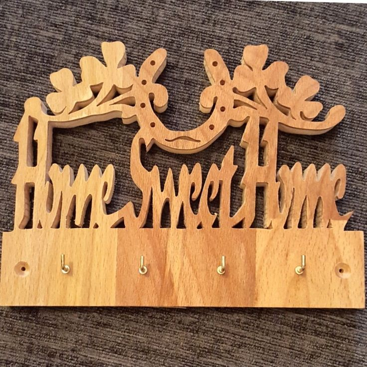 handcrafted key holder home sweet home forever losing your keys never