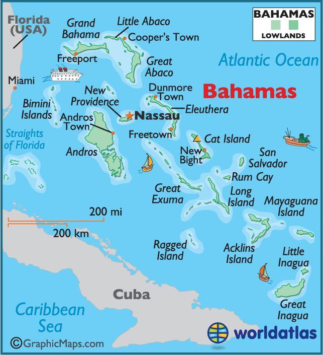 Best Bahamas Images On Pinterest Atlantis Bahamas Paradise - Bahamas country political map