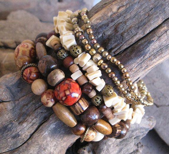 Handmade Bohemian Hippie Bracelets by TrailerParkGypsy
