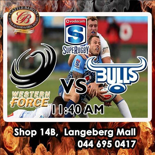 Don't miss all the action today - It's the Western Force VS Vodacom Bulls - 11:40 am. Who do you think who will win? #supergees #SupeRugby