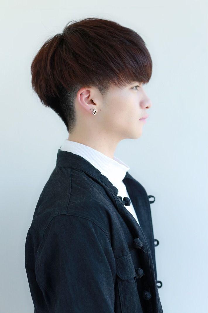 韓国風マッシュ 黒髪ヘア メンズ 髪型 Lipps 原宿 メンズ ヘア