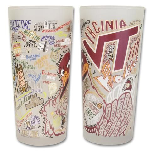Collegiate Landmarks Art Frosted Glass: Virginia Tech