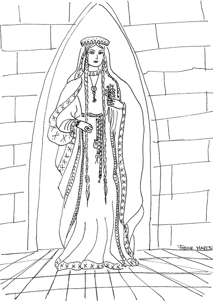 Renaissance Princess Coloring Pages : Best images about history coloring page on pinterest