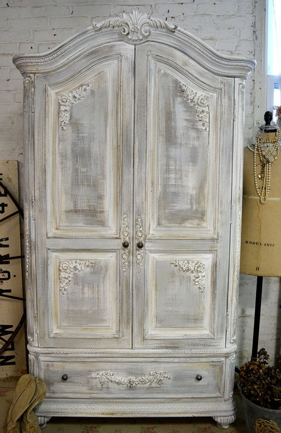 Painted Cottage Chic Shabby White French Media by paintedcottages