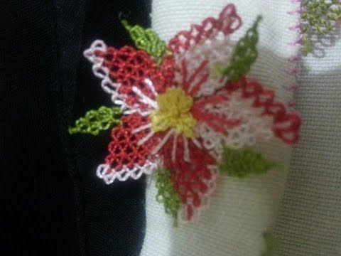 İğne Oyası Bahar Çiçeği Yapılışı Videolu Anlatımı - YouTube