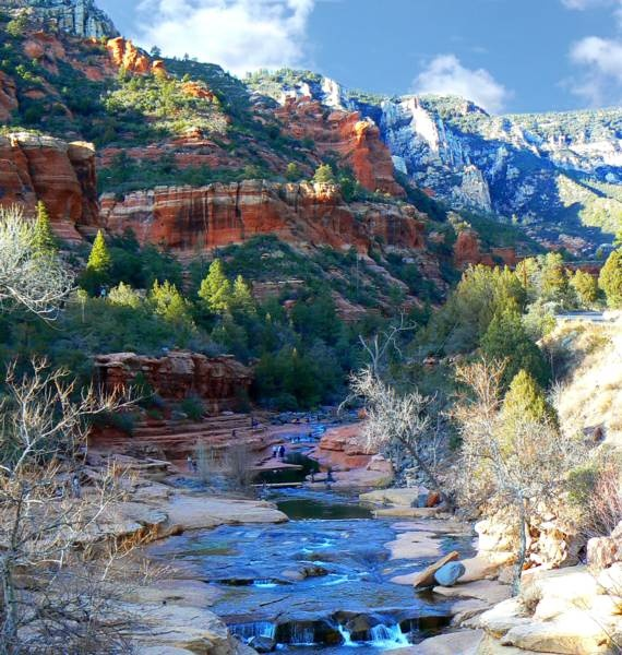 Oak Creek Canyon , Sedona Arizona - The best all natural water slide ever. Truly is amazing. Thanks Dad for introducing me to this beautiful spot.