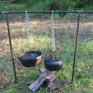 Finally DIY!  Chuckwagon Campfire Cooking Rack