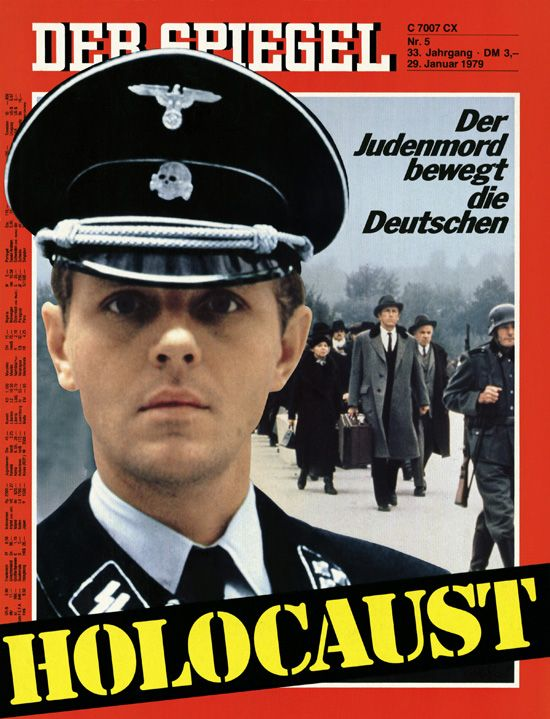 """In late January 1979, the four-part American TV miniseries """"Holocaust"""" (1978) aired on West German public television. Prior to its broadcast, the NBC production had provoked strong misgivings; its most prominent critic, Holocaust survivor Elie Wiesel, called it a """"trivialization of the Holocaust"""" and a """"soap opera."""" Yet the West German public exhibited a surprising degree of interest in the miniseries: ratings as high as 41% suggested that more than 20 million viewers had watched at least…"""