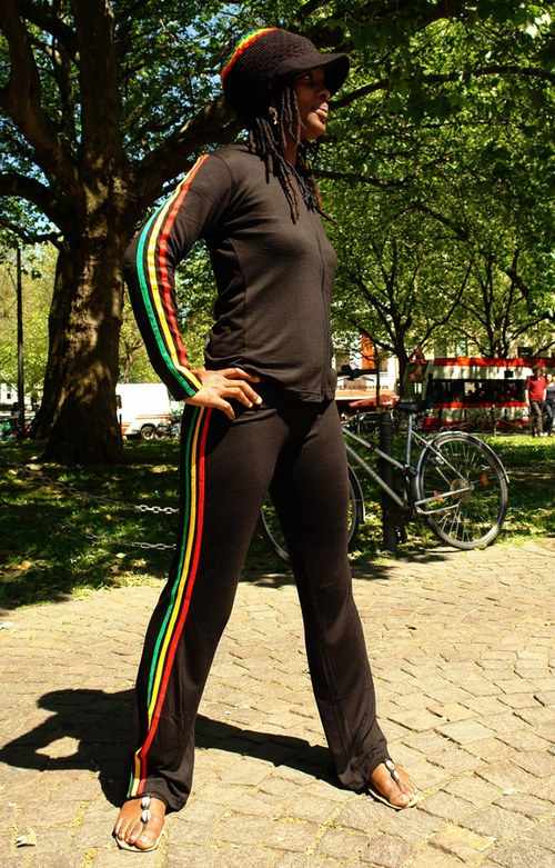 Popular Rasta Woman Costume Bob Marley Rasta Triangle