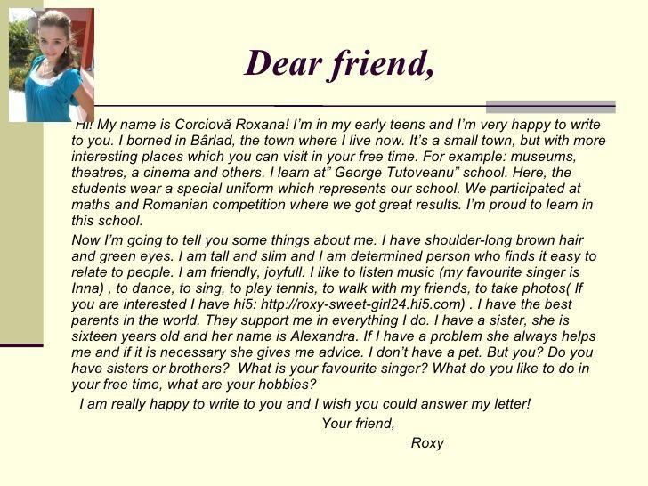 Best  Letter To A Friend Ideas On   Best Friend