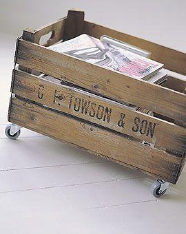 Apple Crate storage on wheels