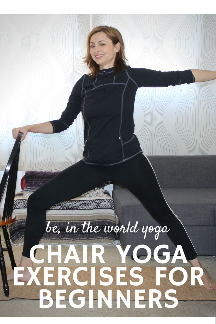 Chair Yoga Exercises for Beginners in 2020 Chair yoga