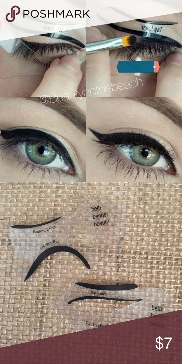Winged eyeliner stencil + smokey eye ♡ Same/next day shipping  ♡ Bundle & save  ♡ No holds/No trades/No low ballers ♡ I ship through USPS & provide tracking! ♡ All my items are in a smoke free home ♡ Happy shopping, God bless Makeup Eyeliner
