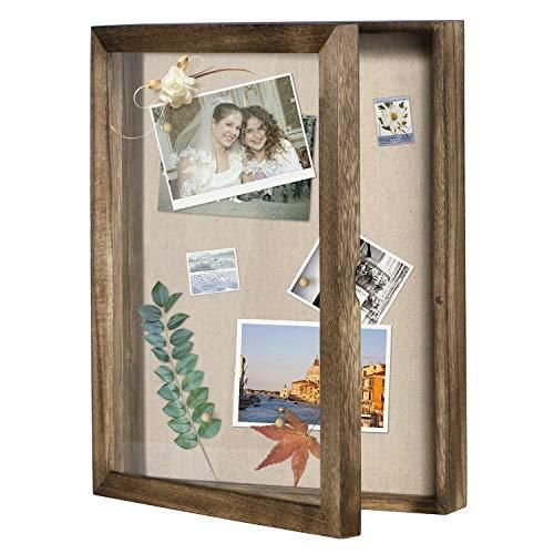Love Kankei Shadow Box Display Case 11x14 Shadow Box Picture Frame With Linen Back Memorab In 2020 Shadow Box Display Case Box Picture Frames Shadow Box Picture Frames