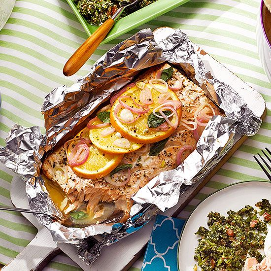New take on salmon: Grilled Salmon with Mint Tzatziki is flavorful and refreshing