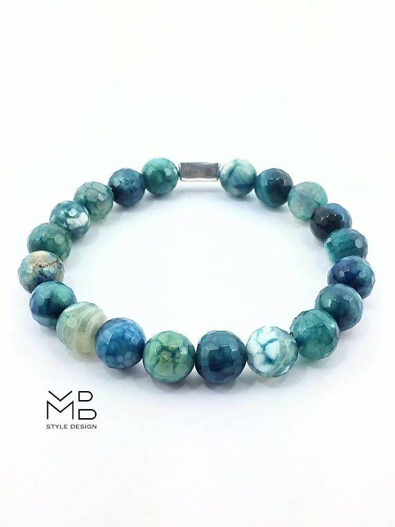 Pulseras para hombre, joyas para hombre, moda elegante, regalo para él, aniversario, cumpleaños, pulsera de piedras, accesorios hombre, yoga