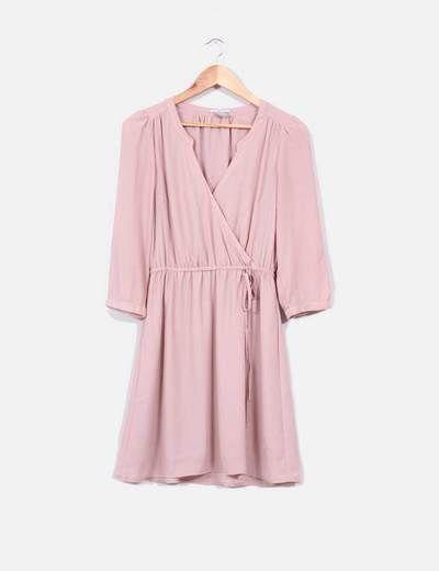 Vestido rosa palo H&M