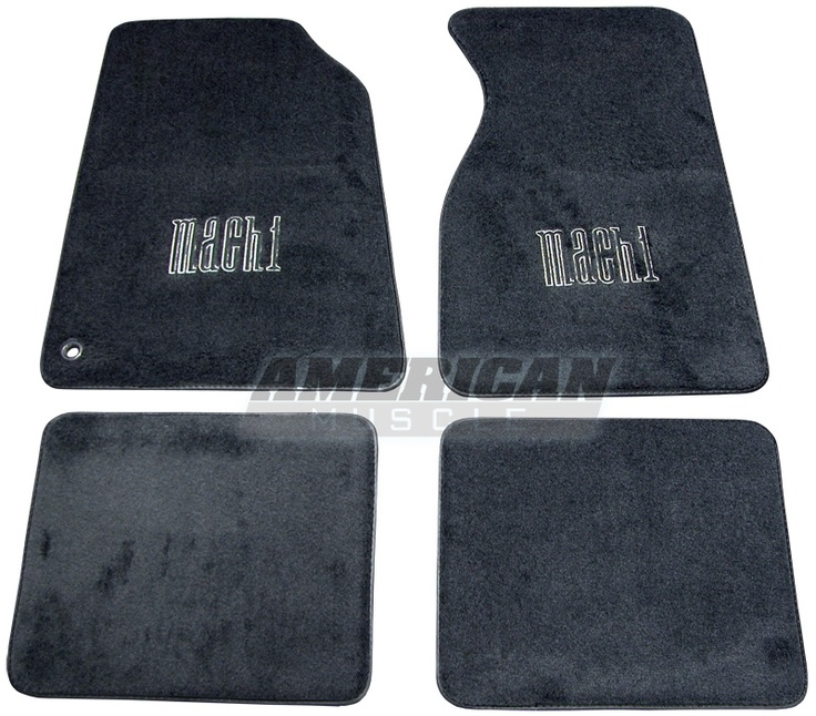 Mustang mach 1 floor mats dark charcoal 99 04 at for 1965 ford mustang floor mats