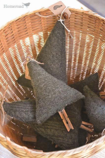 Boiled Wool Christmas Tree Upcycle