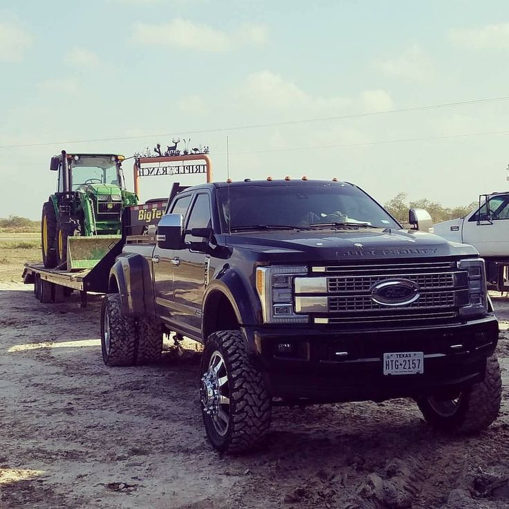 ... ford dually lifted trucks superduty f350 ford f 450 work truck pile
