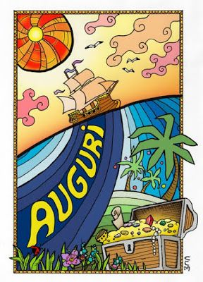 Greeting card with a pirate theme