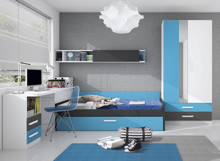 Dormitorio juvenil completo: Dormitorios Jovenes, Fourth, Bedroom Boy S, Adolescentes Masculinos, Youth Bedroom, Adolescente Hombre, Youth Bedroom