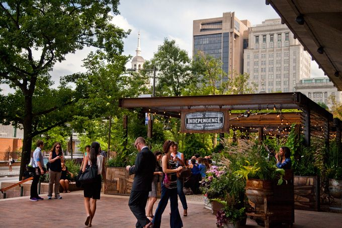Top 10 Outdoor Happy Hour Spots For Center City Sips In Philadelphia (Photo by M. Edlow for Visit Philadelphia)