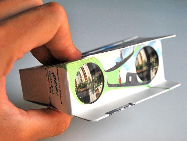 PALOMAR   ZOOMY design Paolo Giacomazzi www.paologiacomazzi.com Graphic design for folding binocular, Palomar 2010.