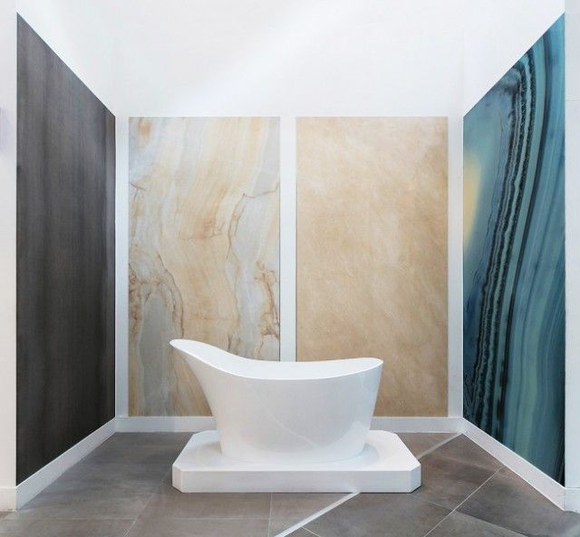 See The Worlds Largest Tiles On Display At TileStyle! These Supersize, Extra  Large Format Tiles Are An Impressive Metres High And Metres Wide, Yet Are  Still ...