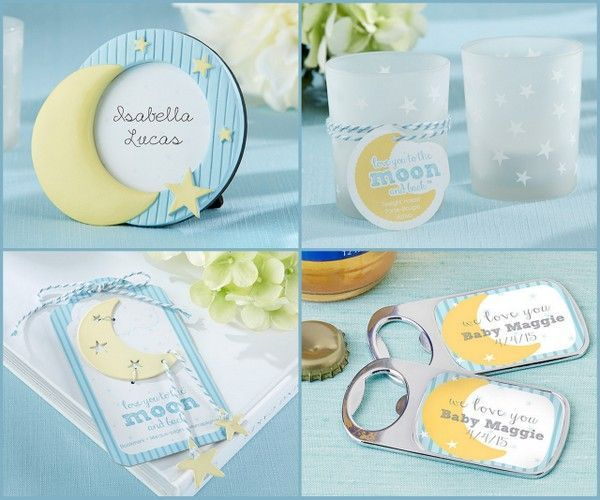 to the moon and back baby shower favors