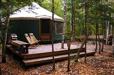 Brownfield, ME YurtsBirches Yurts, Mountain Yurts