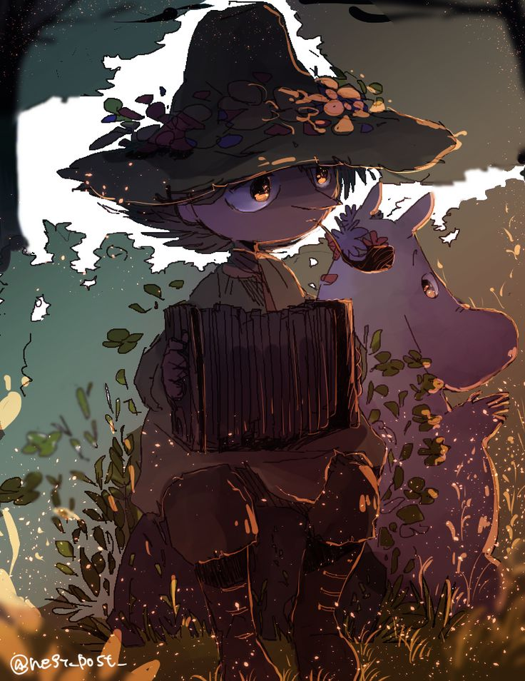 snufkin and moomin art by ねぎ - pixiv