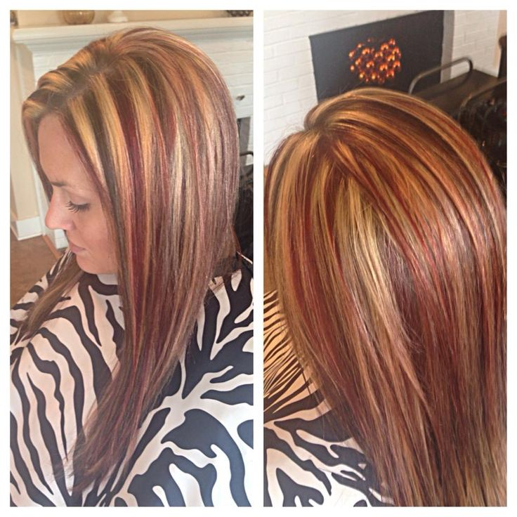 Best 25 red blonde highlights ideas on pinterest fall hair red blond and brown highlightslowlights pmusecretfo Choice Image