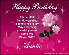 Birthday Quotes for Aunts | Birthday wishes for aunt - Happy Birthday Quotes Pictures Messages to ...