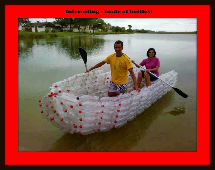 Boat made of plastic bottles crafty ideas pinterest for Things to make out of plastic bottles