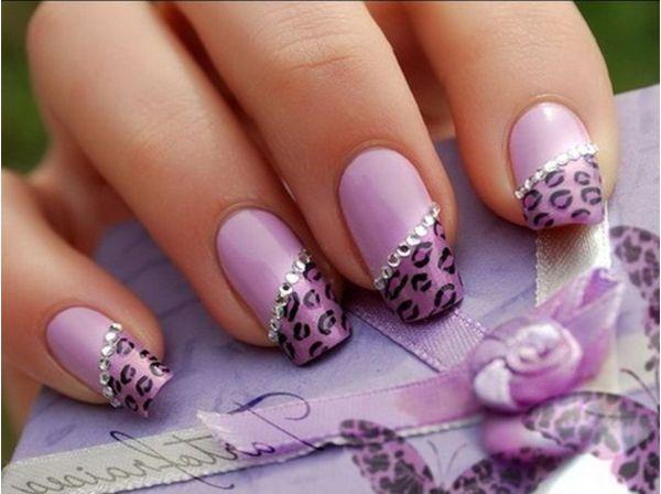 New Purple Nails Art Designs for Wedding