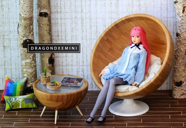 IKEA Hackers: Mid Century Modern Doll Furniture Chair and Coffee Table