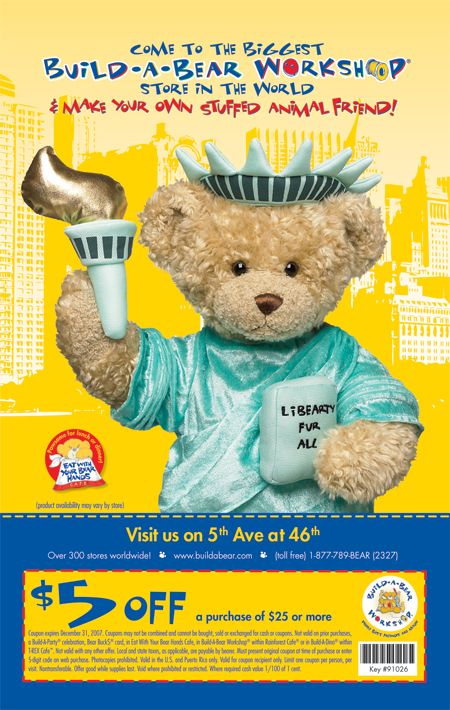 New codes for Build-A-Bear Workshop