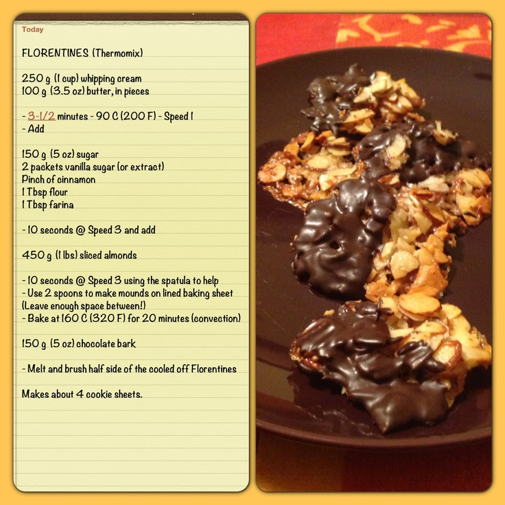 #Florentines - Great for Christmas! A #recipe for #Thermomix