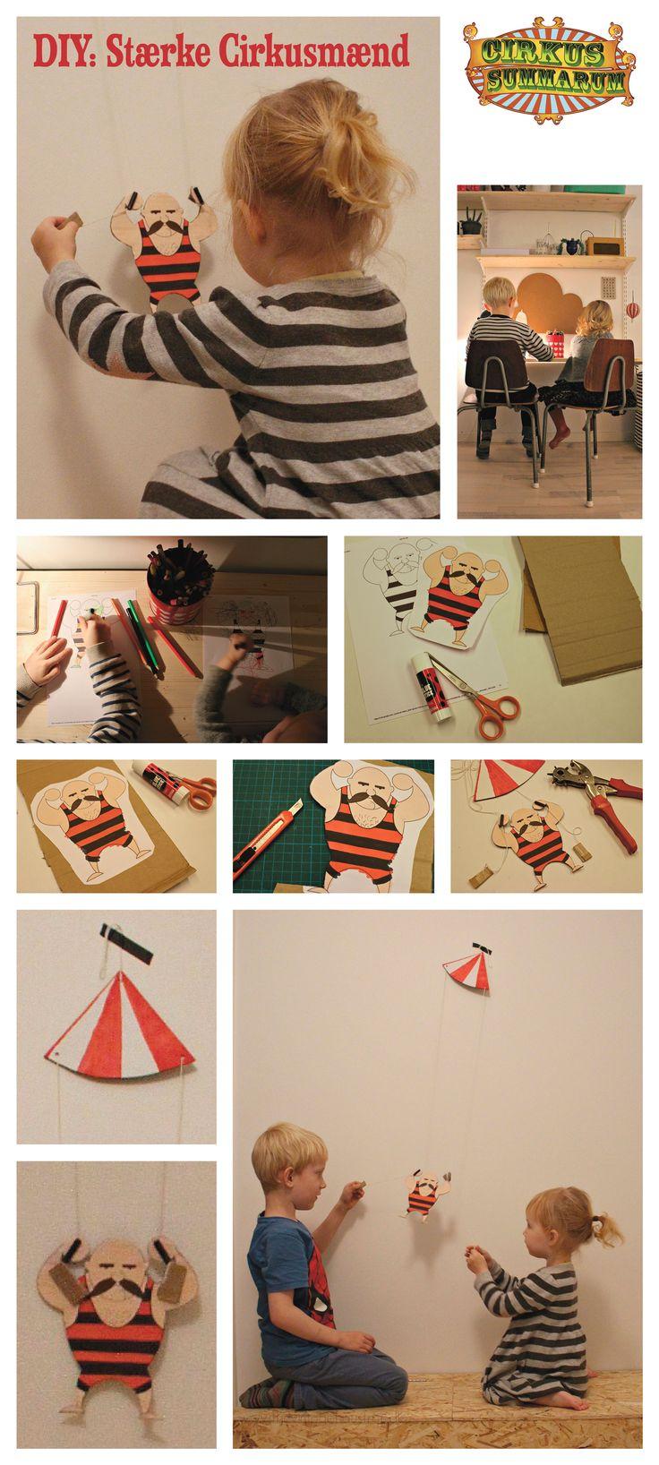 DIY de Stærkeste Cirkusmænd der kan klatre. DIY'en er lavet af den super kreative @vintagehausfrau og kan findes på  http://cirkussummarum.dk/lege/staerke-cirkusmaend/
