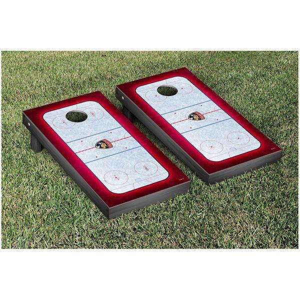 "Florida Panthers 25"" x 49"" Hockey Rink Cornhole Game Set - $249.99"