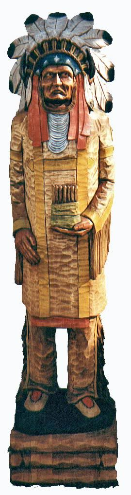Cigar Store Indian | large cigar store Indians I have carved over the years. My Indians ...