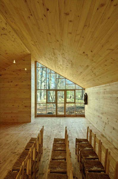 Rustic Woodland Churches - It seems as though church design and architecture went downhill there for a bit, you know, after the 19th century. The Junquillos Chapel, located i...
