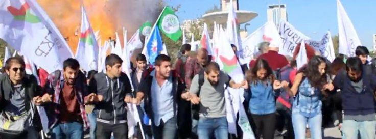 Ankara im Moment der Explosion: Bei der Demonstration ging es um den Konflikt zwischen Kurden und türkischem Staat
