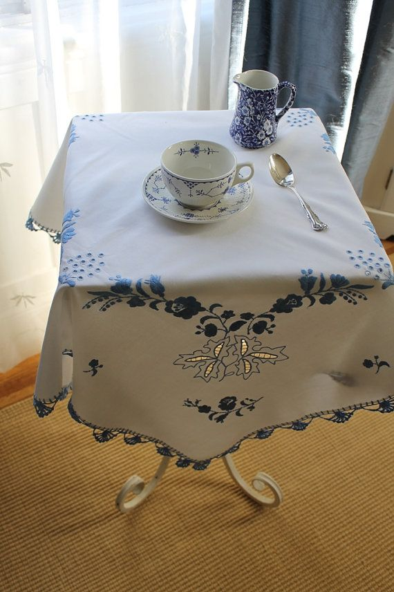 tablecloth..........Yes....look at that beautiful; hand work.....priceless