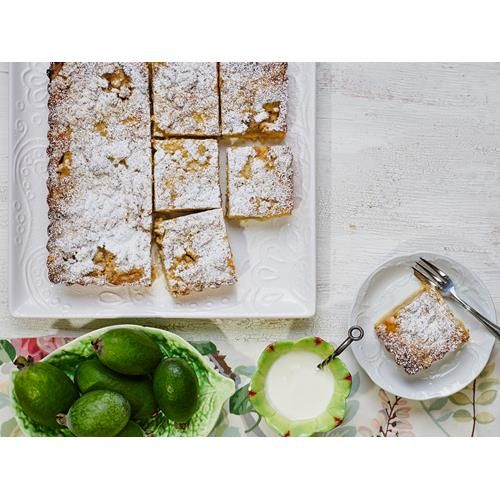 This feijoa crumble recipe has layers of delicious sweet pastry, feijoas, custard and crumble that combine to make an irresistible slice, perfect for an afternoon treat with a cup of tea