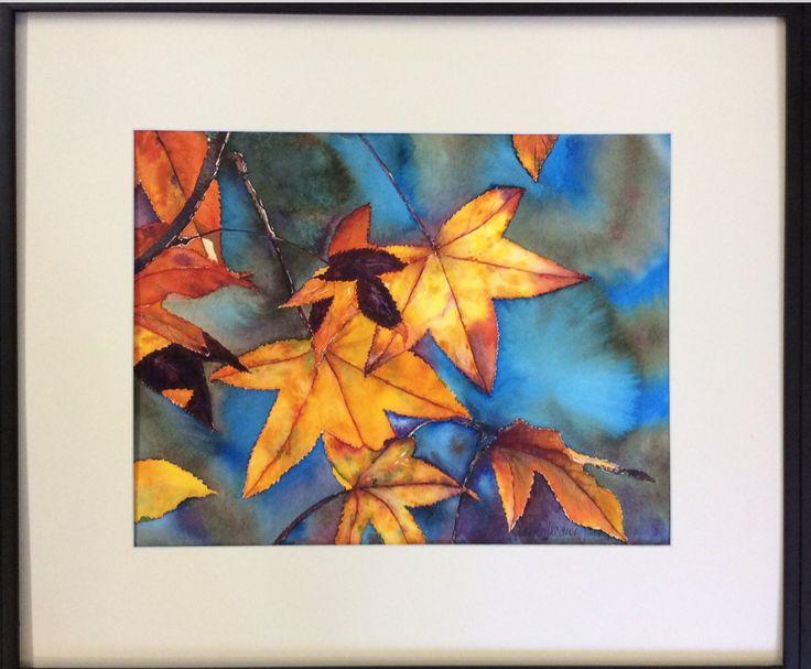 Autumn Leaves Watercolour