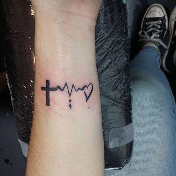 semicolon lifeline tattoo-2