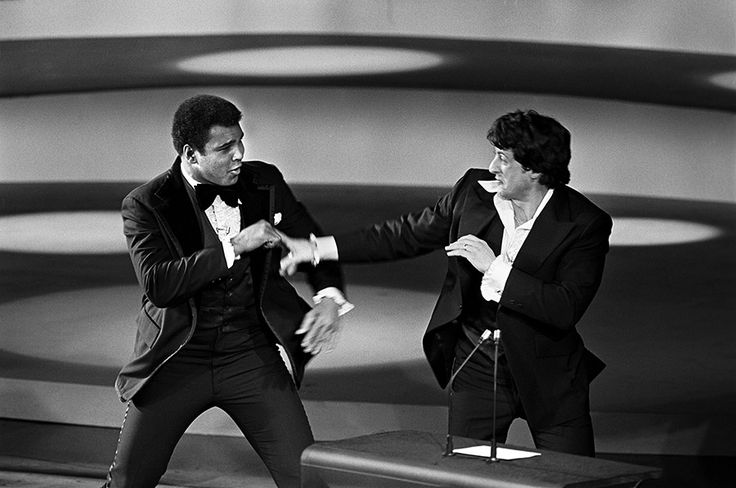 Sylvester Stallone et Cassius Clay aux Oscars - 1976