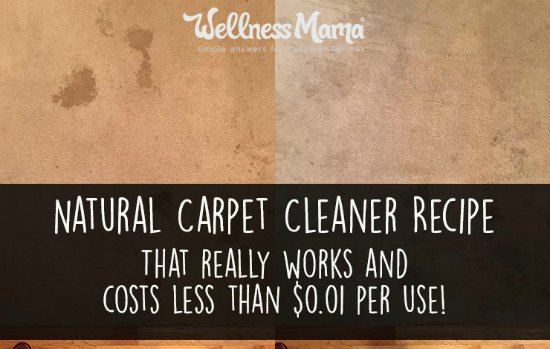 Natural Carpet Cleaner That Really Works | One of the best natural carpet cleaner recipes you can use at home only has two ingredients.